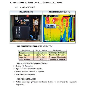 Laudo de termografia em Novais