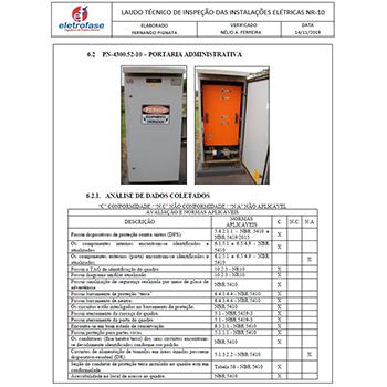 Laudo técnico de instalações elétricas em Bilac