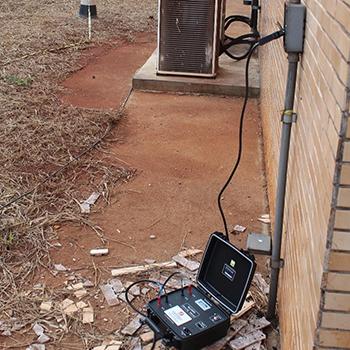 Sistema de proteção contra descargas atmosféricas em Aguaí